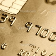 fine blue image of classic credit card background